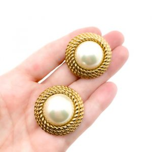 Vintage Pearl Rope Earrings