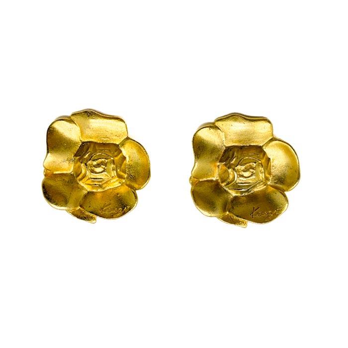 Vintage Kenzo Flower Earrings