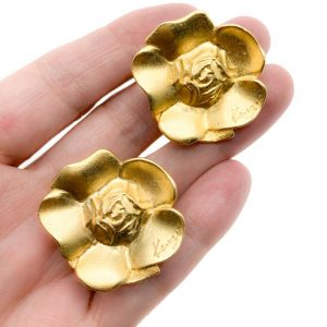 Vintage Kenzo Flower Earrings