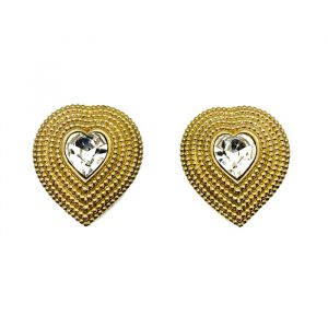 Vintage Butler & Wilson Heart Earrings