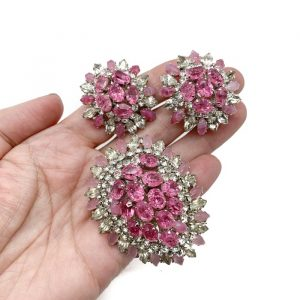 Vintage Christian Dior 1968 Brooch and Earring