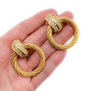 Vintage Dior Hoop Earrings