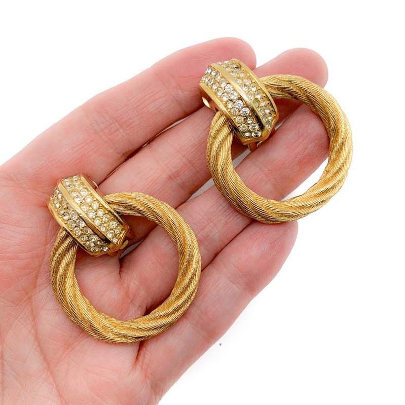 Vintage Dior Hoop Earrings