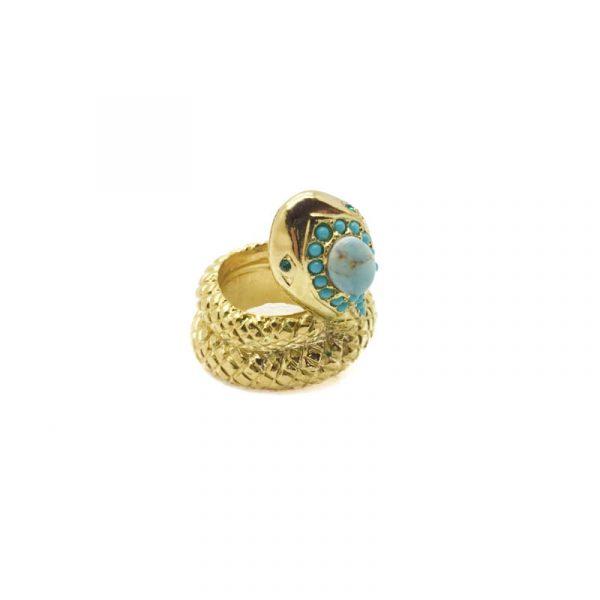 Jennifer Gibson Vintage Jewellery SPHINX Snake Ring 508 (5)