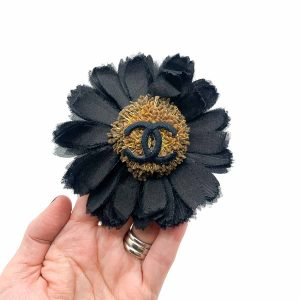 Vintage ChanSunflower Brooch 1980s