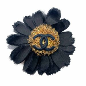 Vintage Chanel Sunflower Brooch 1980s