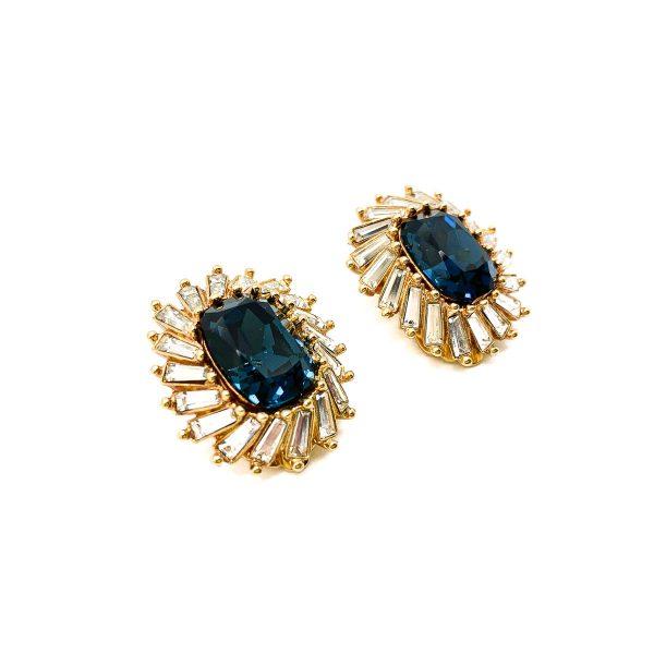 Vintage Christian Dior Crystal Earrings