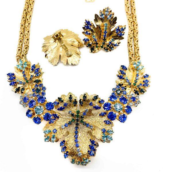 Vintage Christian Dior Leaf Necklace & Earrings