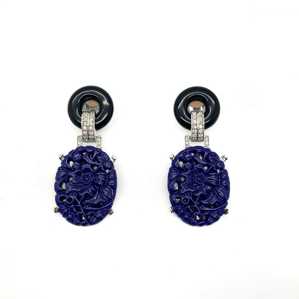 Vintage Kenneth Jay Lane Deco Earrings
