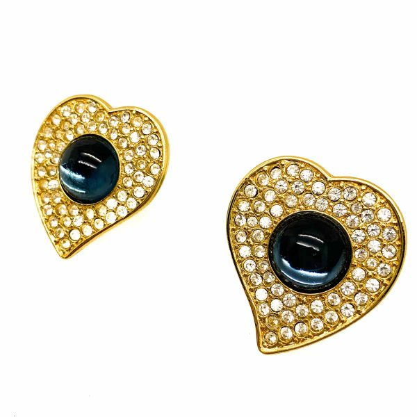 Vintage YSL Heart Earrings