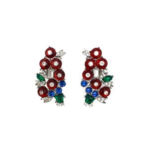 Vintage Art Deco '89 Tutti Frutti Earrings