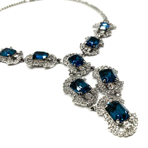 Vintage Art Deco Style Crystal Necklace