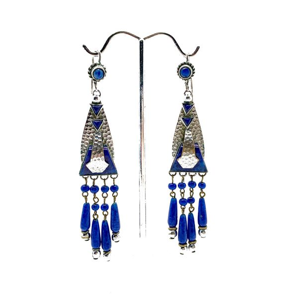 Vintage Art Deco Lapis Earrings