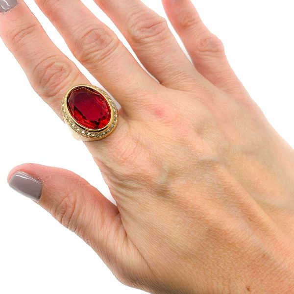 Vintage Christian Dior Ruby Ring