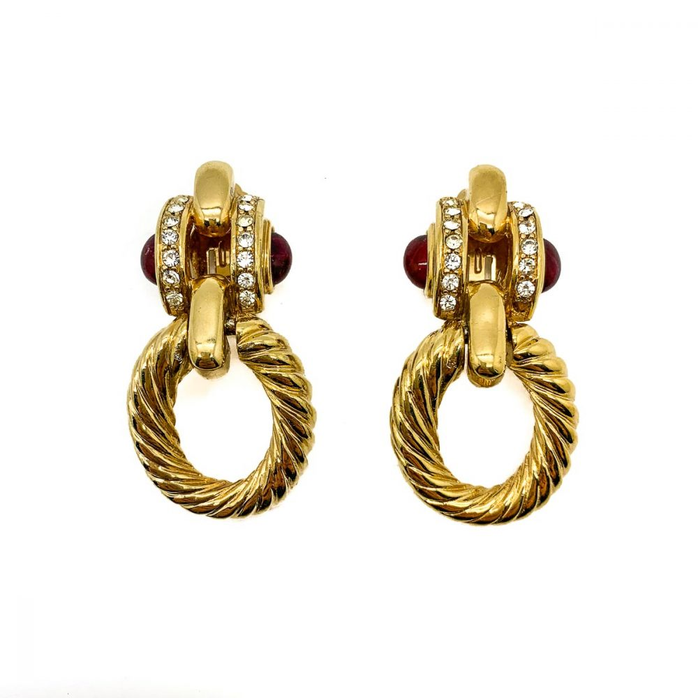 Vintage Givenchy Doorknocker Earrings