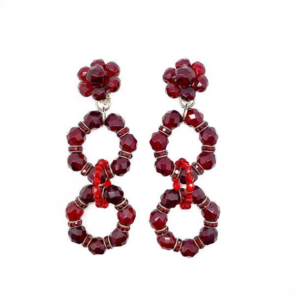 Vintage Red Statement Earrings