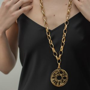Vintage Chanel Coco Chanel Cut Out Necklace