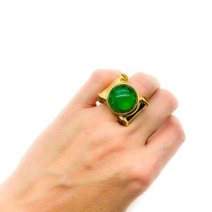 Vintage Faux Emerald Cocktail Ring