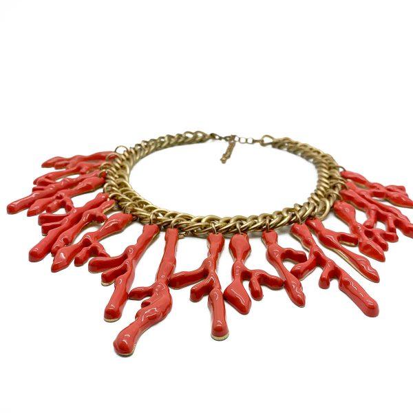 Vintage Coral Bib Necklace