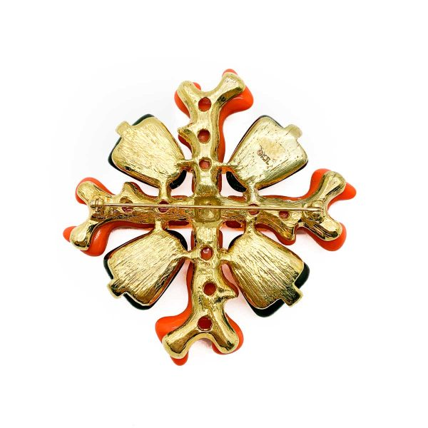 Vintage KJL Maltese Cross Brooch