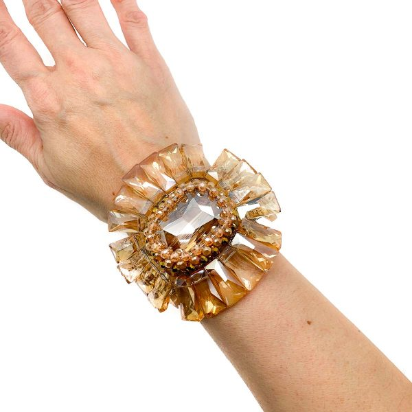 Vintage Statement Glass Cuff