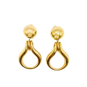Vintage Dior Door Knocker Earrings