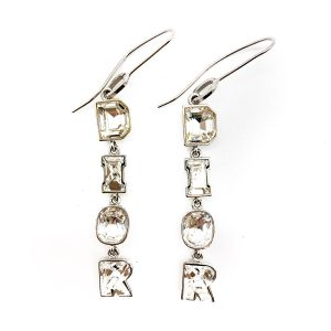 Vintage Dior D I O R Crystal Earrings