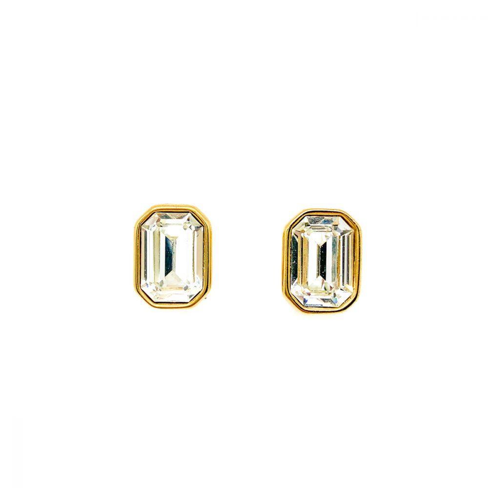 Vintage Monet Crystal Earrings