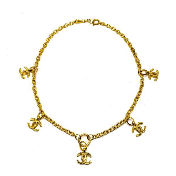 Vintage Chanel CC Charm Necklace