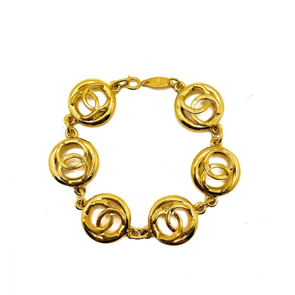 Vintage Chanel CC Logo Bracelet