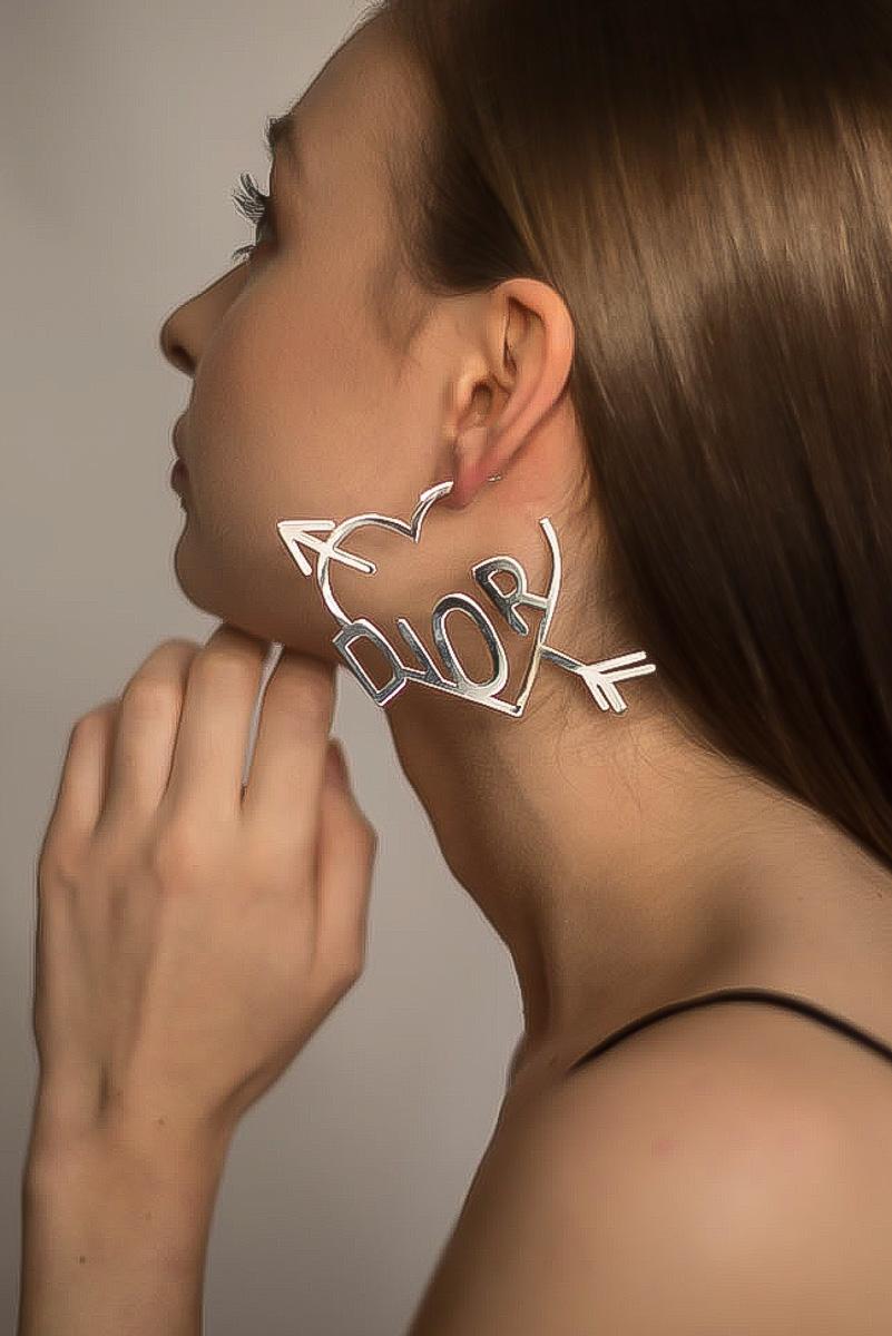 Vintage Dior Heart Hoop Earrings | Jennifer Gibson Jewellery