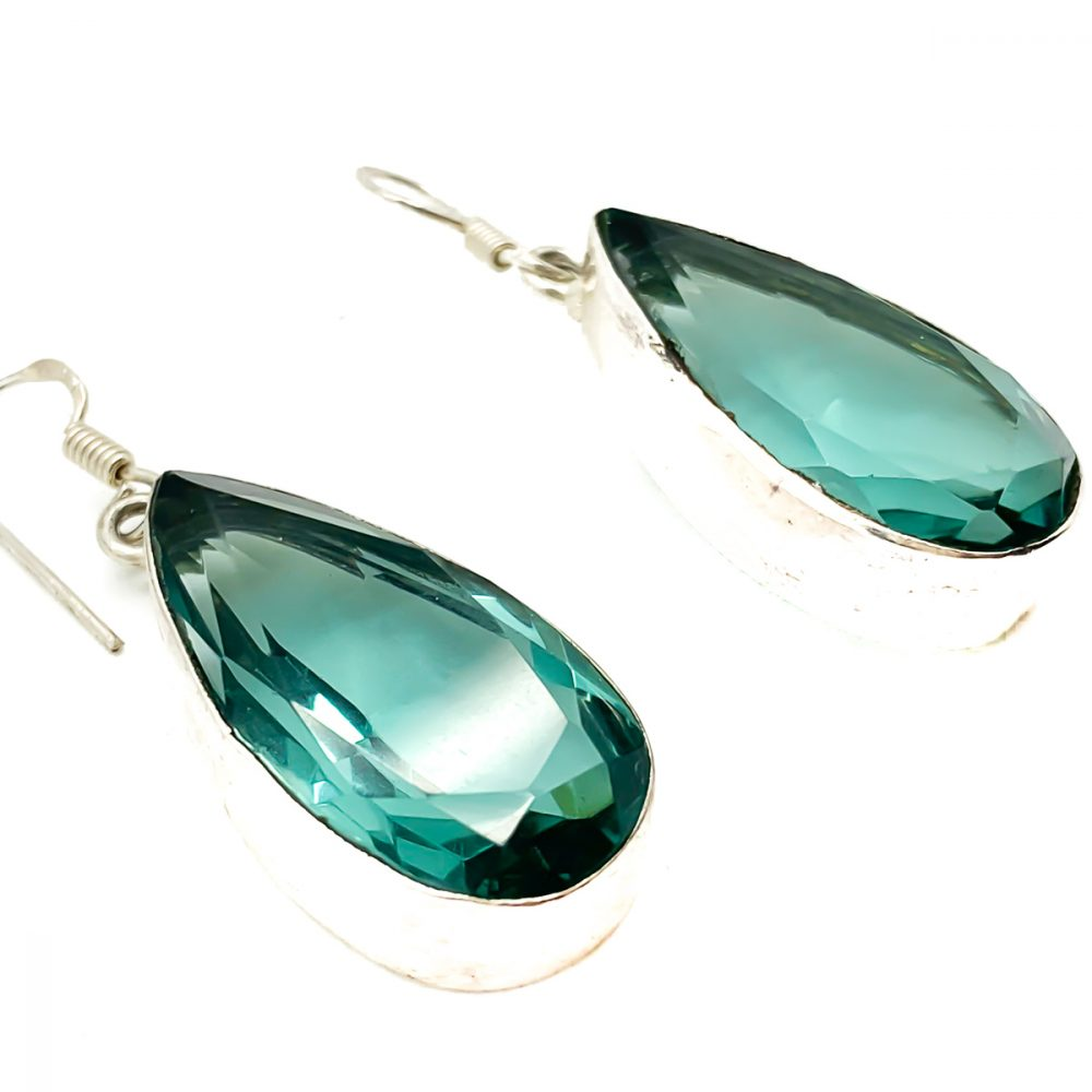 Vintage Green Teardrop Earrings