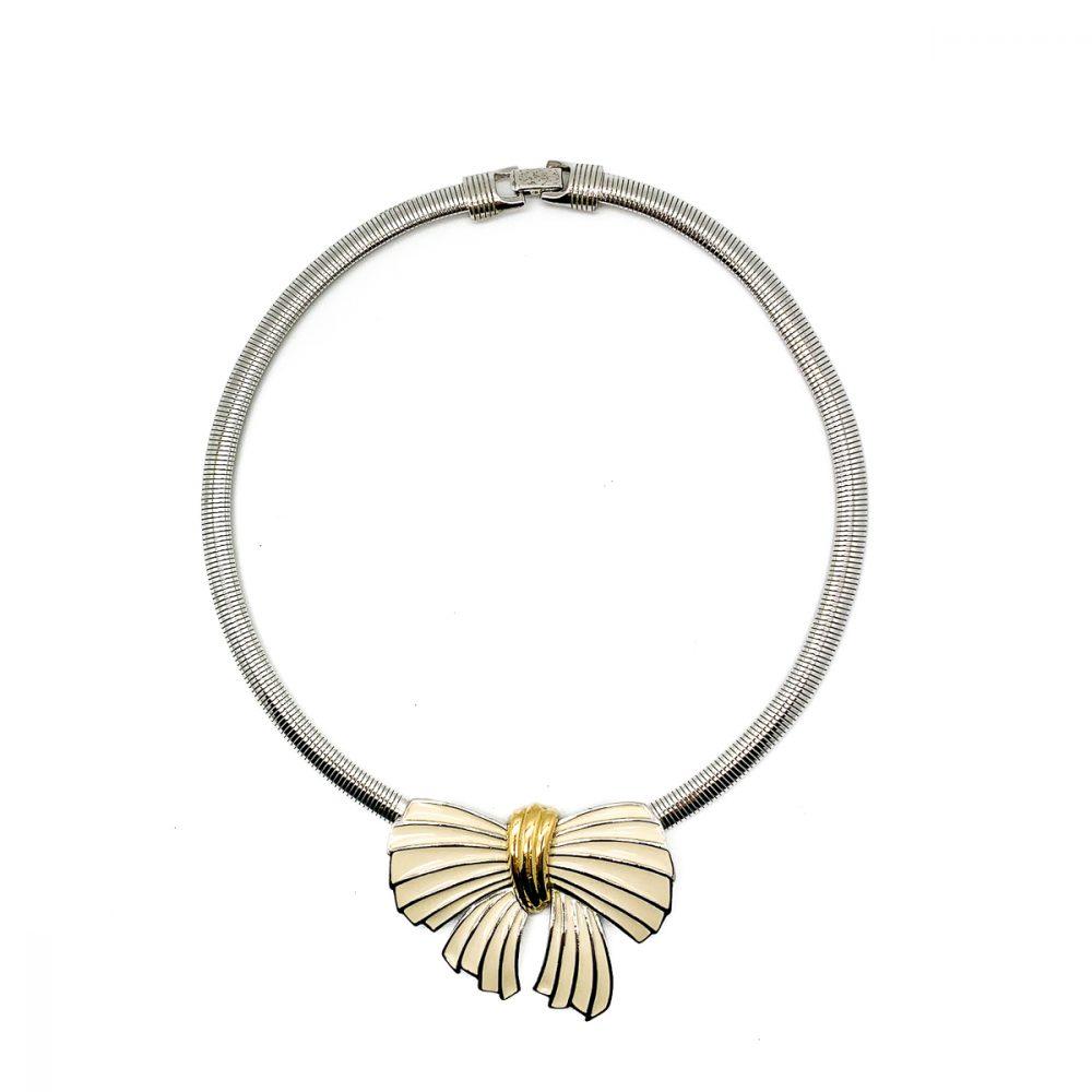 Vintage Trifari Bow Necklace