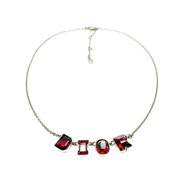 Vintage Dior Letter Necklace