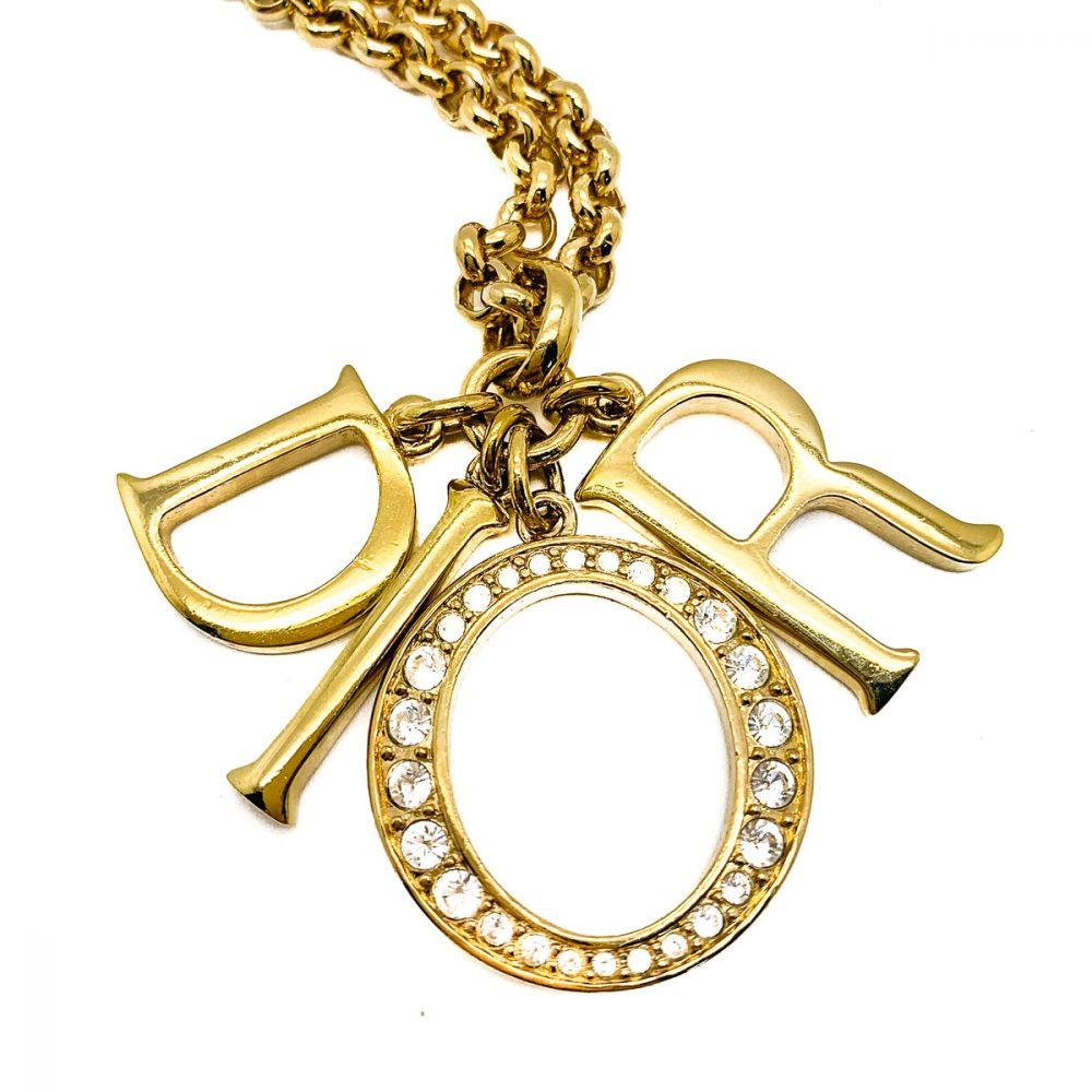 Vintage Christian Dior DIOR Charm Necklace