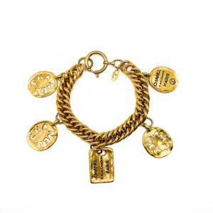Jennifer Gibson Vintage Jewellery Vintage Chanel Logo Charm Bracelet