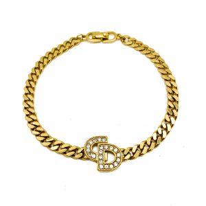 Vintage Christian Dior Logo Bracelet