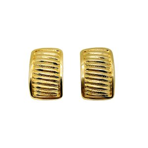 Vintage Gold Ribbed Earrings