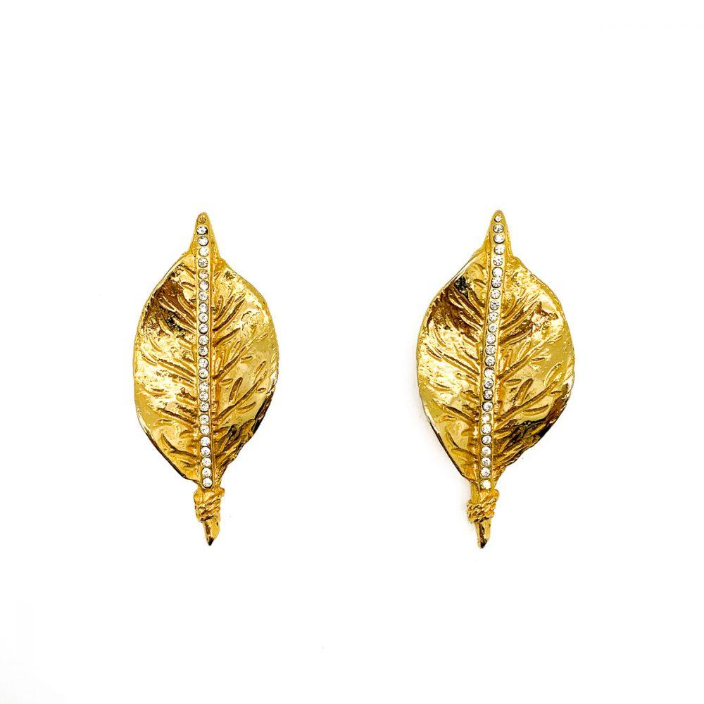 Vintage French Leaf Earrings