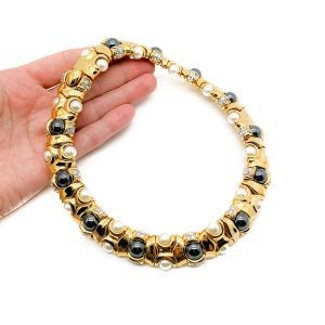 Vintage Gold Pearl Collar