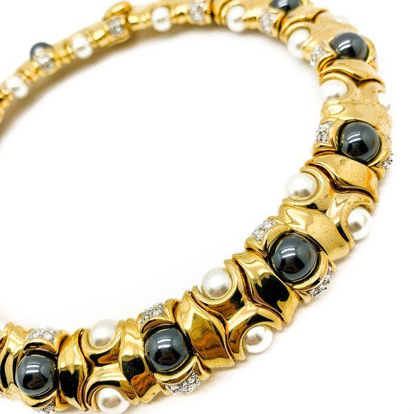 Vintage Gold Pearl Collar