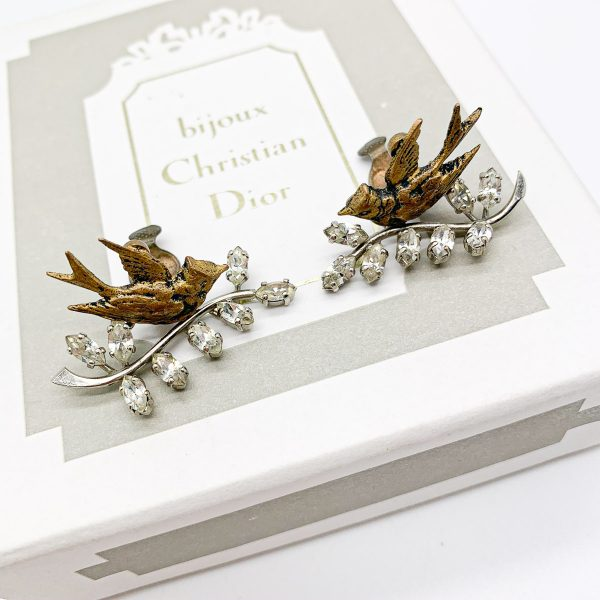 Vintage Dior Bal des Oiseaux Earrings