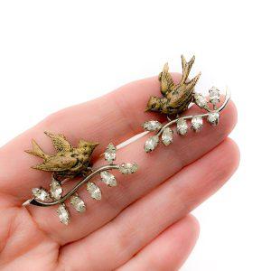 Vintage Dior Bal des Oiseaux Earrings