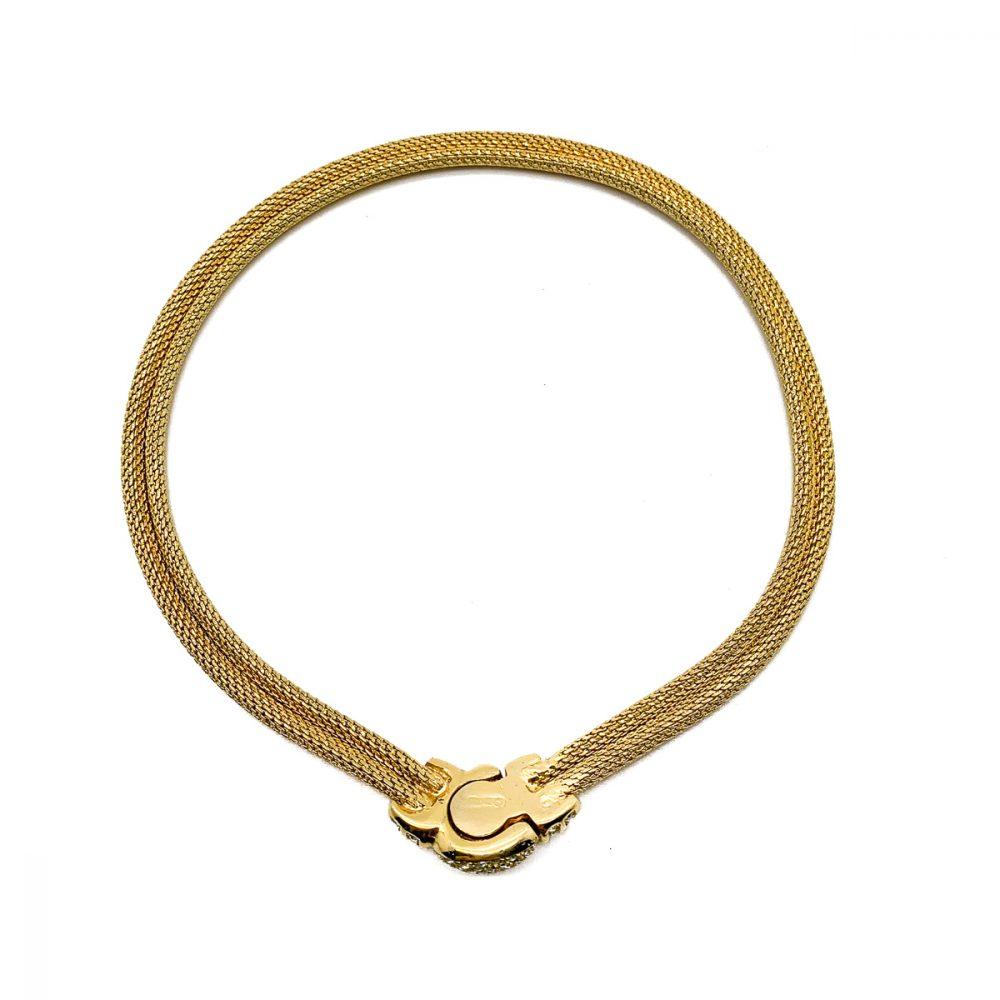 Vintage Dior Gold Mesh Collar