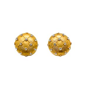 Vintage Gold Lattice Earrings