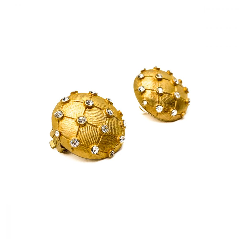 Vintage Gold Lattice Earrings