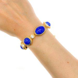 Vintage Dior Lapis Bracelet