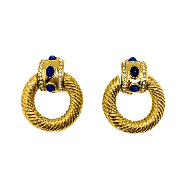 Vintage Givenchy Lapis Earrings