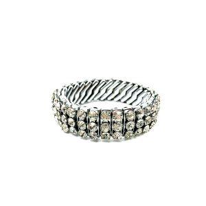 Vintage Expandable Rhinestone Bracelet