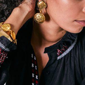 JGJ X THREADS Styling Vintage Chanel Earrings